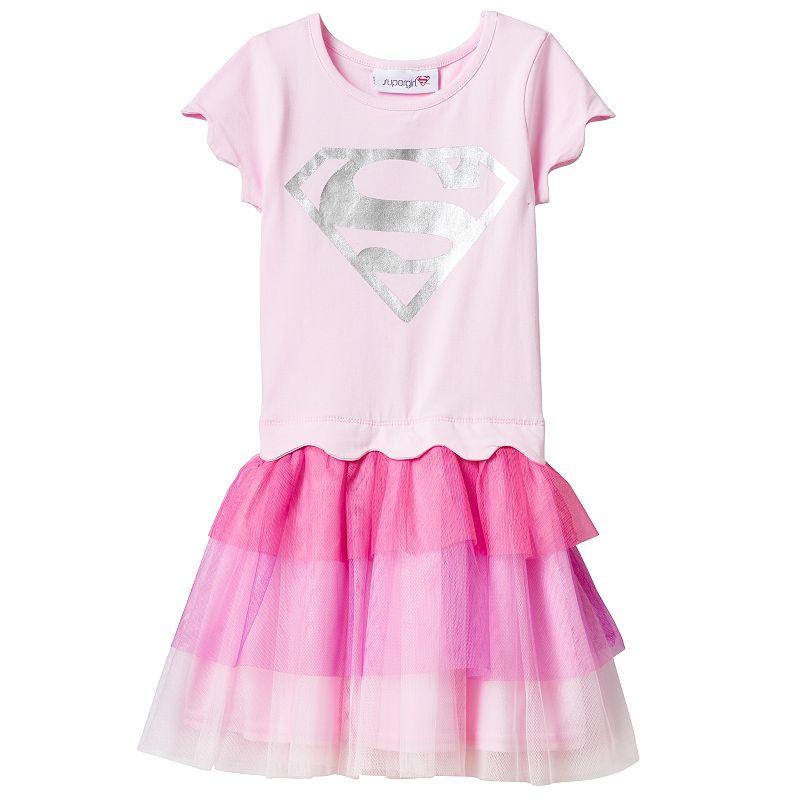 Toddler Girl DC Comics Supergirl Tiered Tulle Tutu Dress
