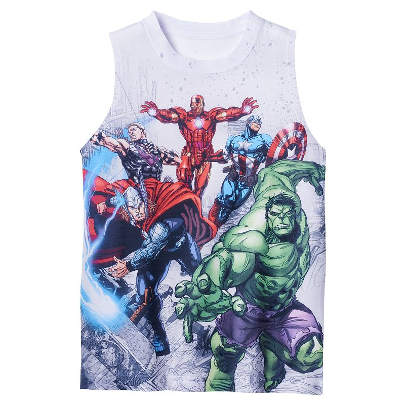 Boys 4-7 Marvel Character Graphic Muscle Tank