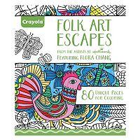 Crayola Folk Art Escapes Adult Coloring Book