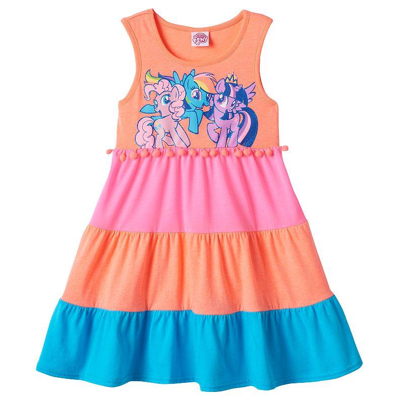 Girls 4-6x My Little Pony Tiered Colorblock Dress
