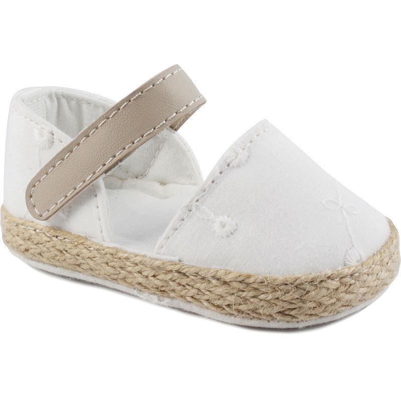 Baby Girl Wee Kids Eyelet Espadrille Crib Sandals