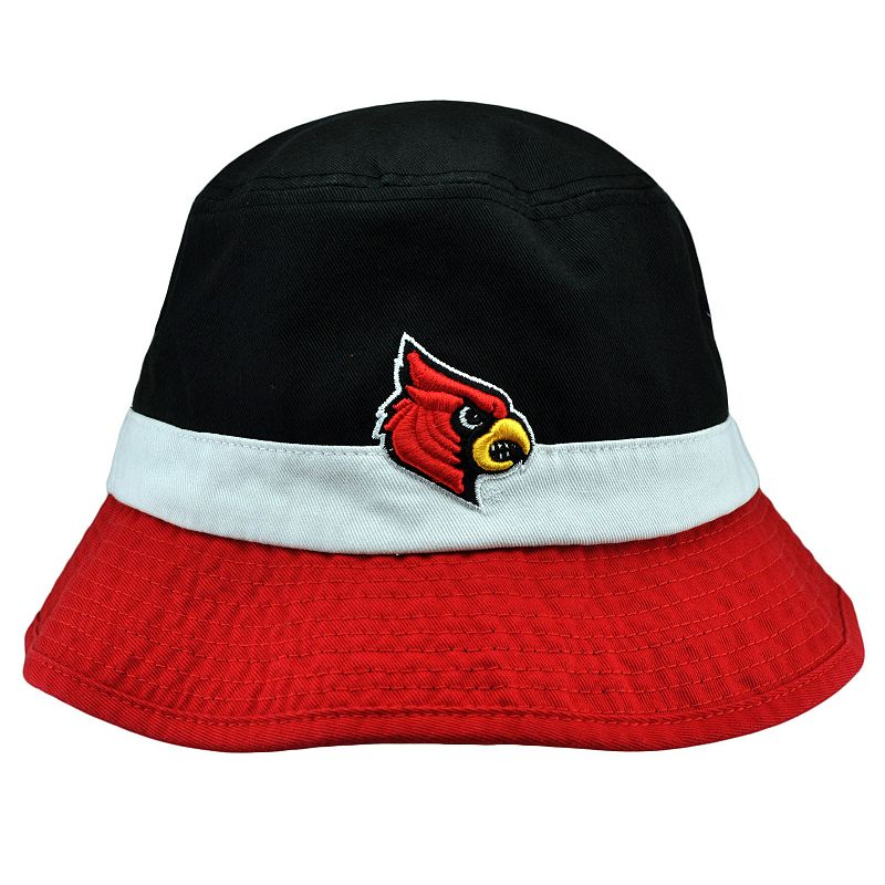 Adult Top of the World Louisville Cardinals Trifecta Bucket Hat