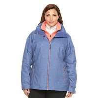 Plus Size Columbia Crystal Slope Hooded 3-in-1 Systems Jacket