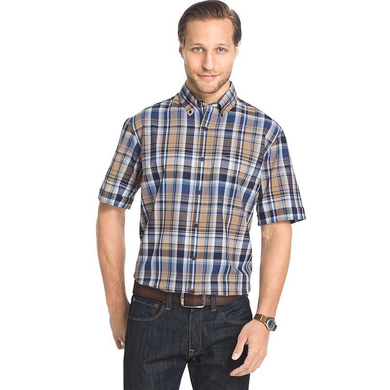Men's Arrow Classic-Fit Madras Plaid Button-Down Shirt