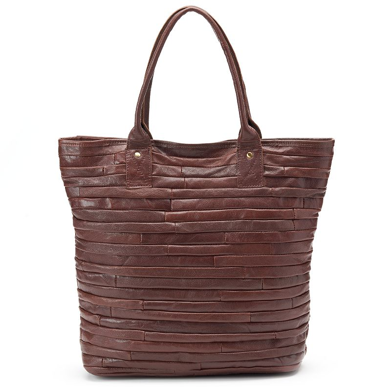 AmeriLeather Rozaly Leather Tote