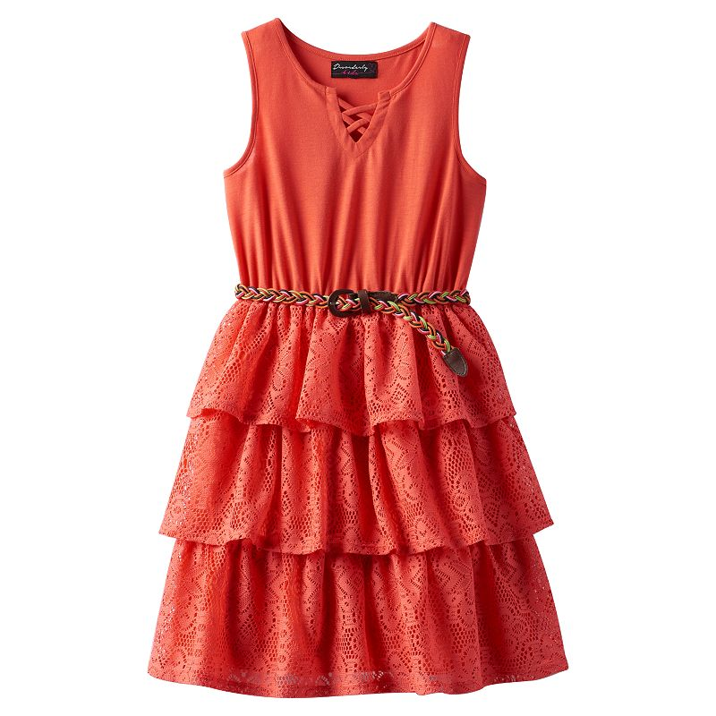 Girls 7-16 & Plus Size Disorderly Kids Tiered Lace Dress