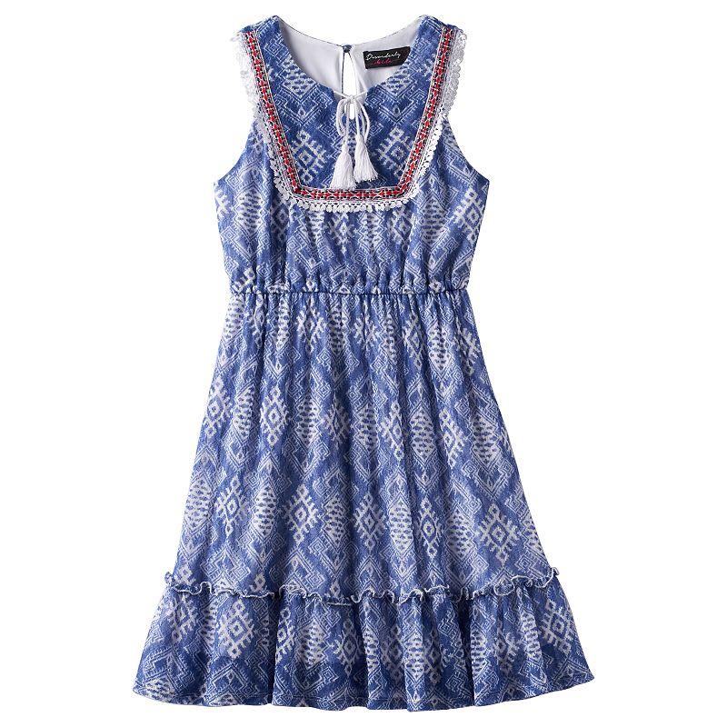 Girls 7-16 & Plus Size Disorderly Kids Tassel Tie Graphic Dress