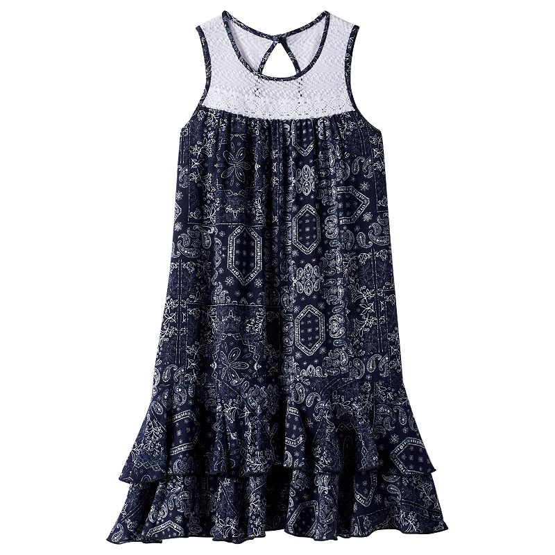 Girls 7-16 & Plus Size Disorderly Kids Tiered Crochet Dress