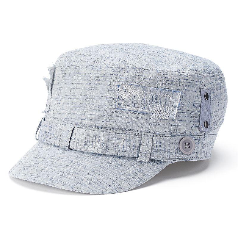 Women's Croft & Barrow® Distressed Patchwork Cadet Hat