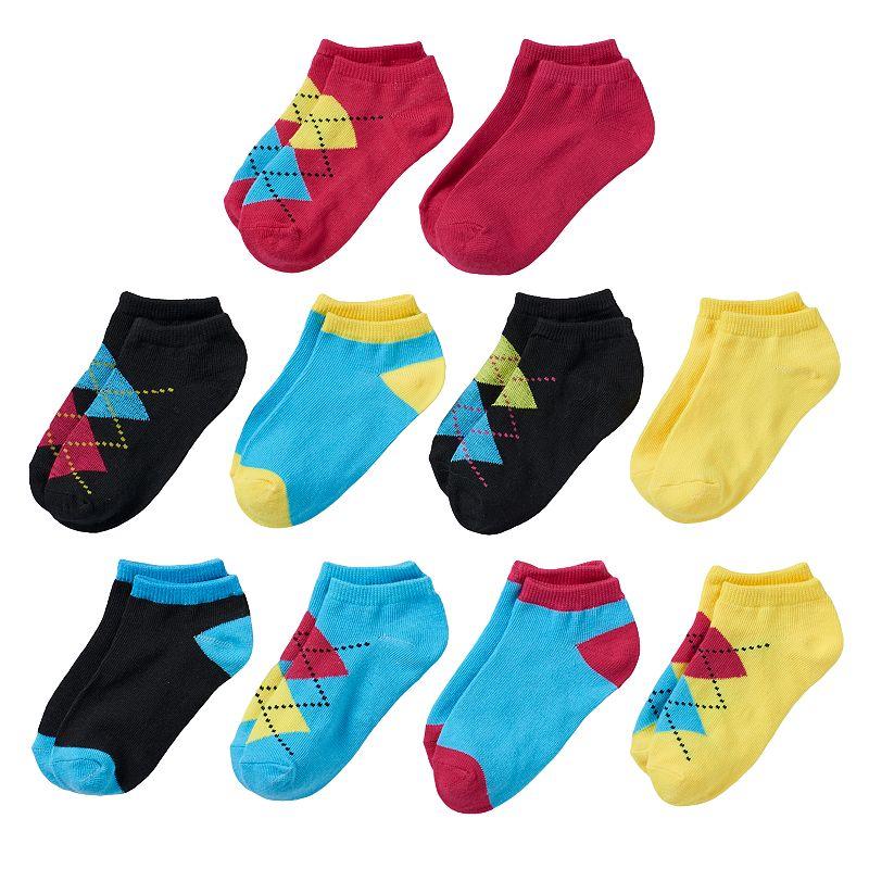 Girls Trimfit 10-pk. No-Show Socks