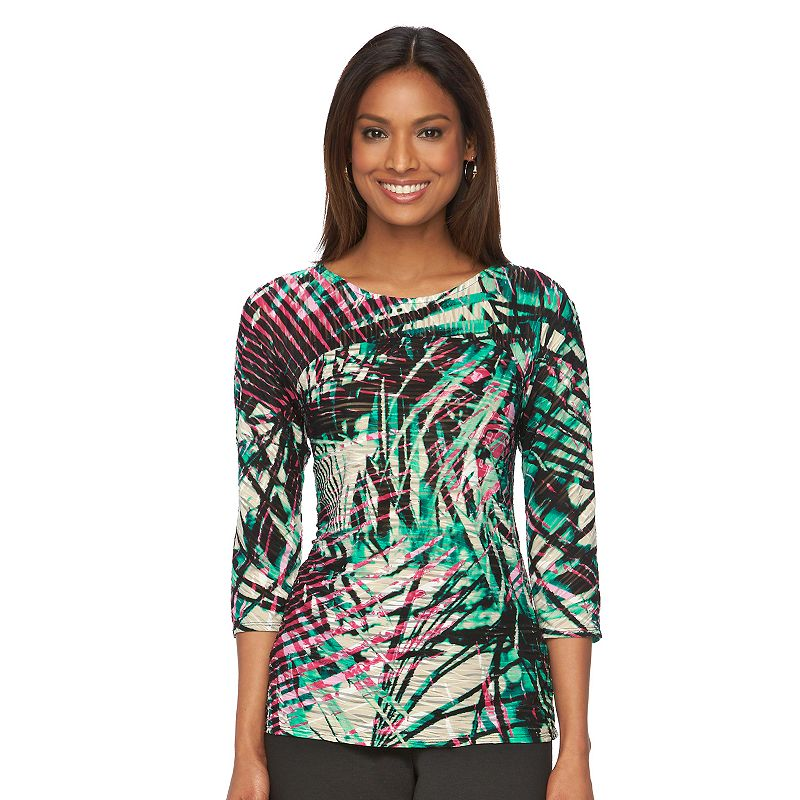 Women's Dana Buchman Print Textured Dolman Top