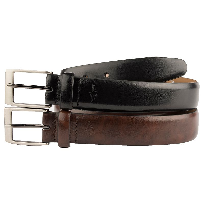 Men's Dockers Leather Dress Belt Boxed Set