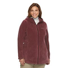Plus Size Columbia Three Lakes Hooded Long Fleece Jacket
