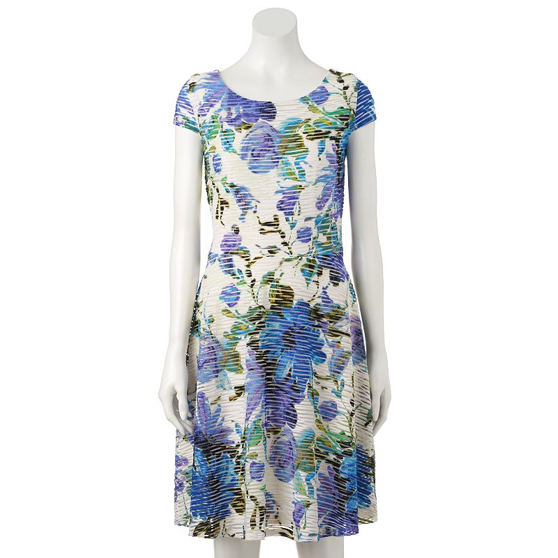 Women's Ronni Nicole Floral Fit & Flare Dress
