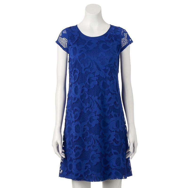 Women's Ronni Nicole Floral Lace Shift Dress