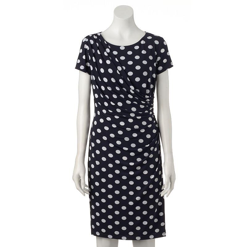 Women's Ronni Nicole Dot Faux-Wrap Dress