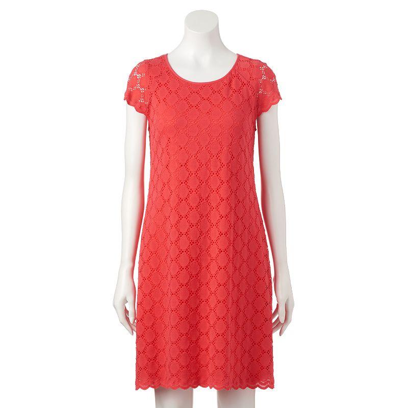 Women's Ronni Nicole Circle Lace Shift Dress