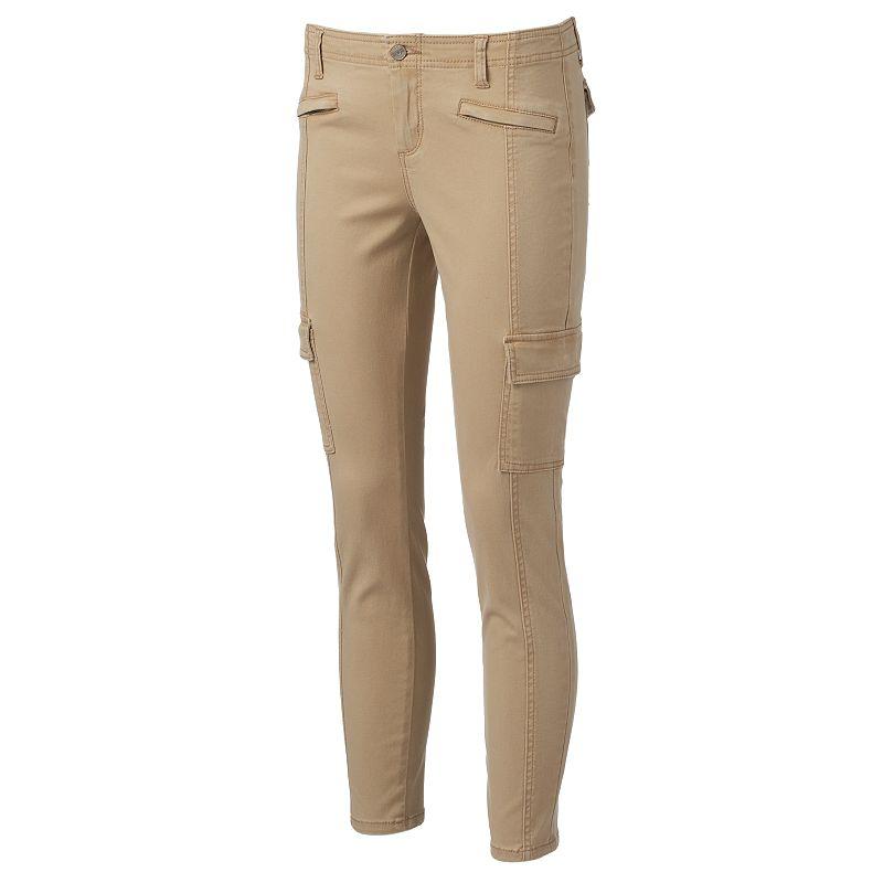 Juniors' Mudd® Front-Seam Skinny Cargo Pants