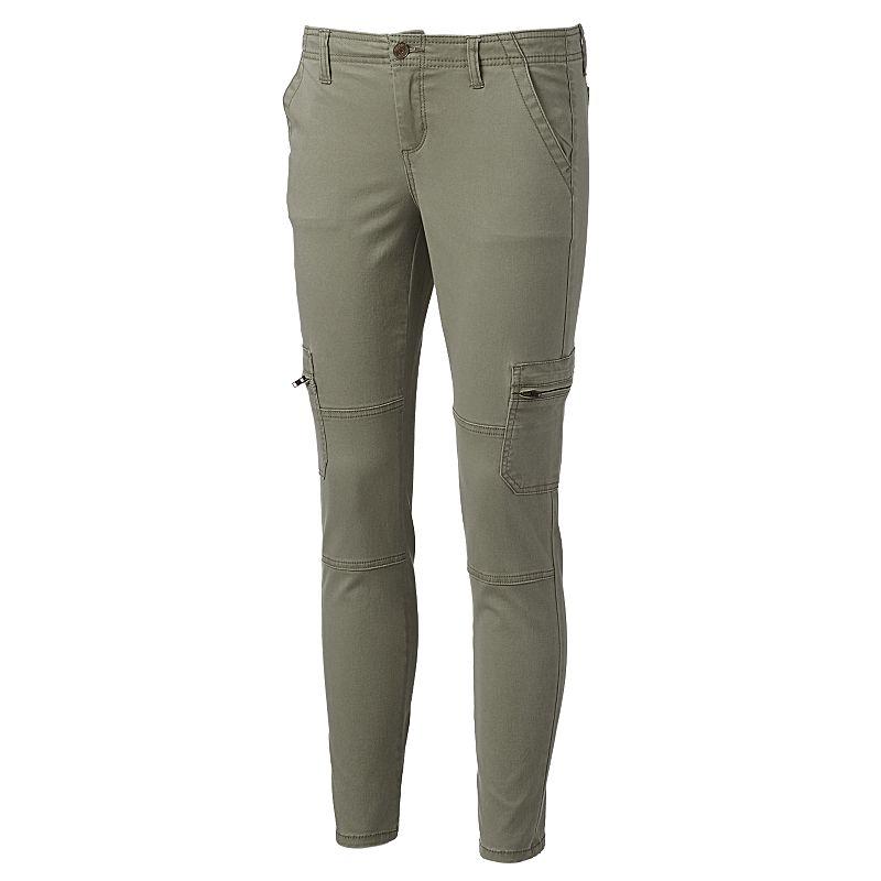 Juniors' Mudd® Knee-Seam Skinny Cargo Pants
