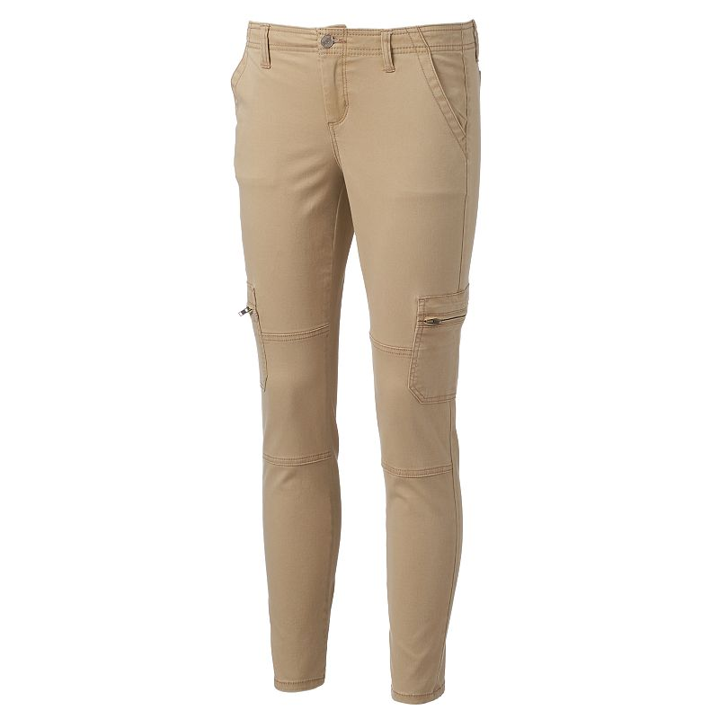 Juniors' Mudd® Knee-Seam Skinny Cargo Pants