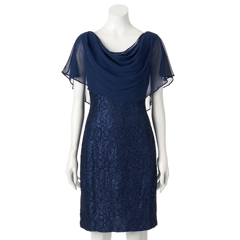 Women's Jessica Howard Glitter Lace Shift Dress