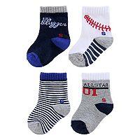 Baby / Toddler Boy Jumping Beans® 4-pk. Striped Socks