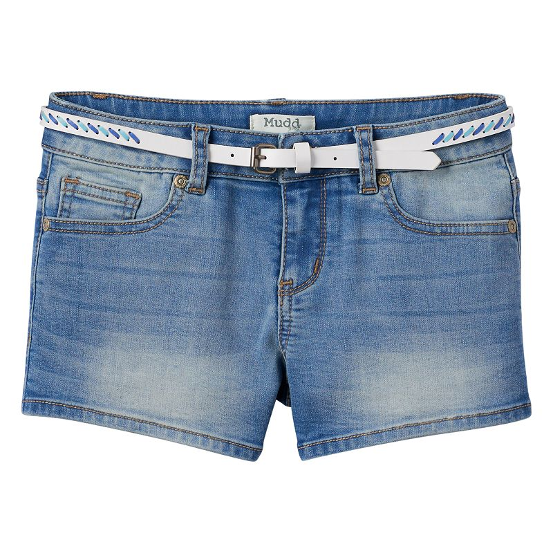 Girls 7-16 & Plus Size Mudd® Belted Denim Shorts