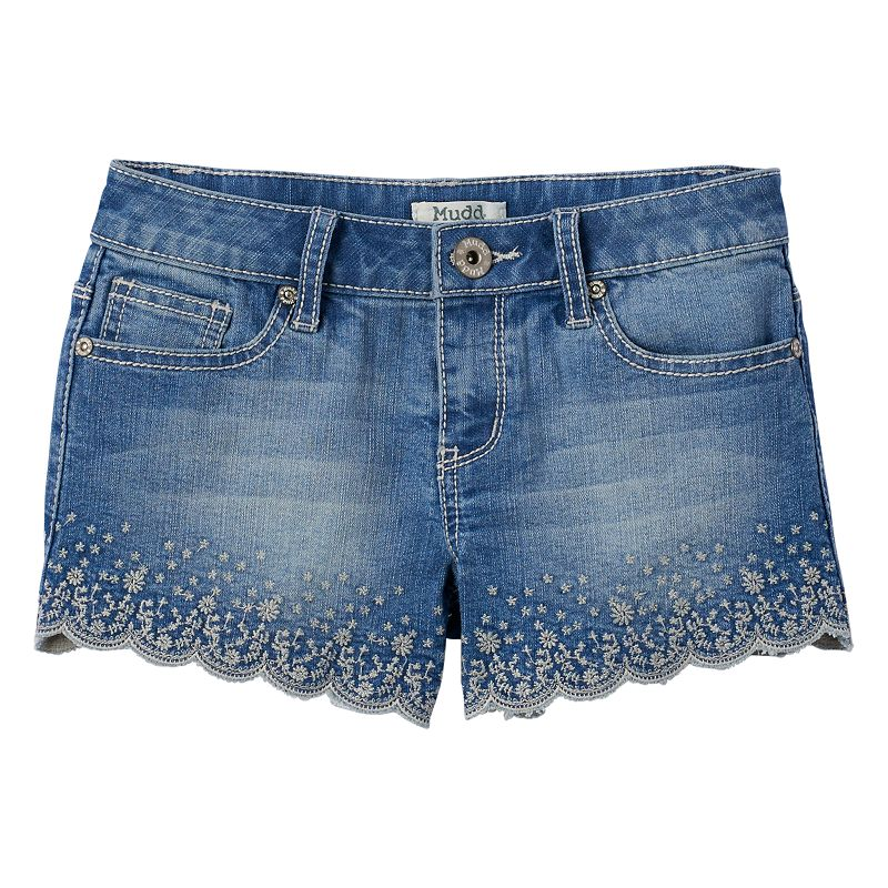 Girls 7-16 & Plus Size Mudd® Scalloped Hem Denim Shorts