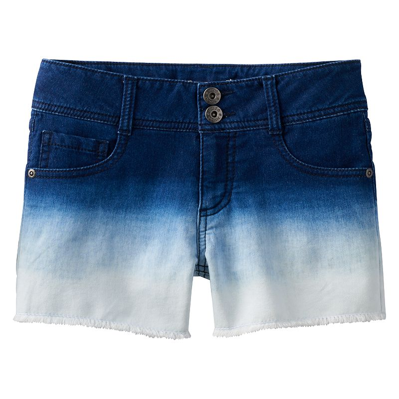 Girls 7-16 & Plus Size Mudd® Dip-Dyed Denim Cutoff Shorts