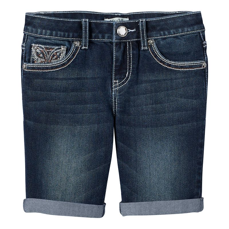 Girls 7-16 & Plus Size Mudd® Butterfly Cuffed Denim Shorts