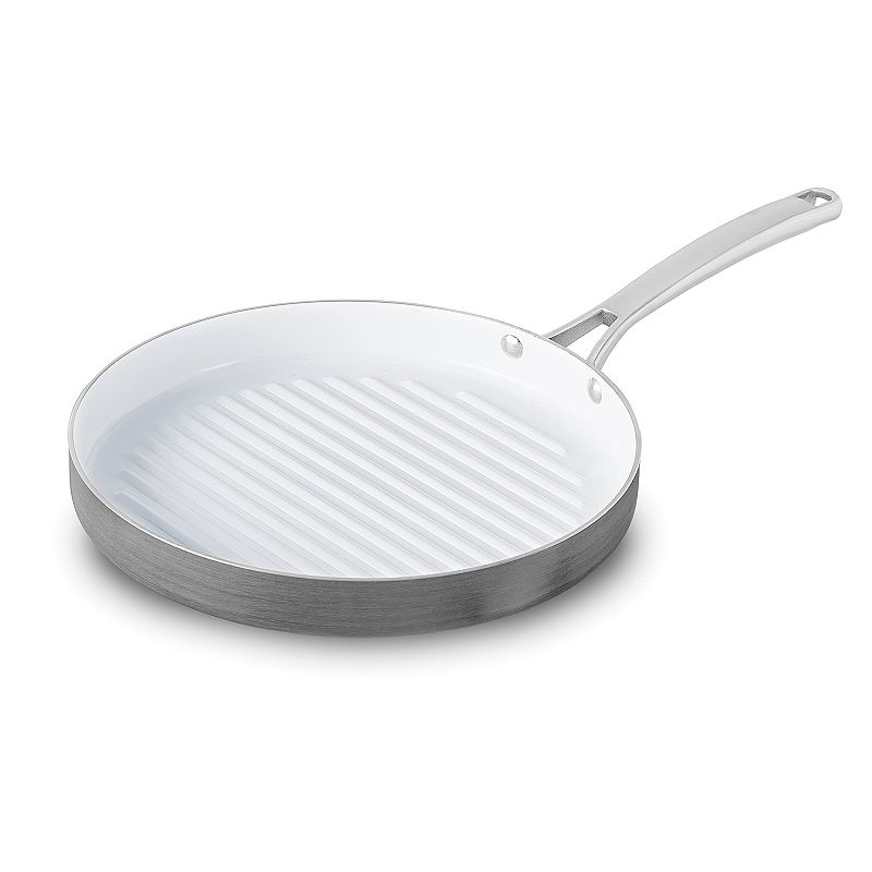 Calphalon Classic 12-in. Ceramic Nonstick Hard-Anodized Round Grill Pan