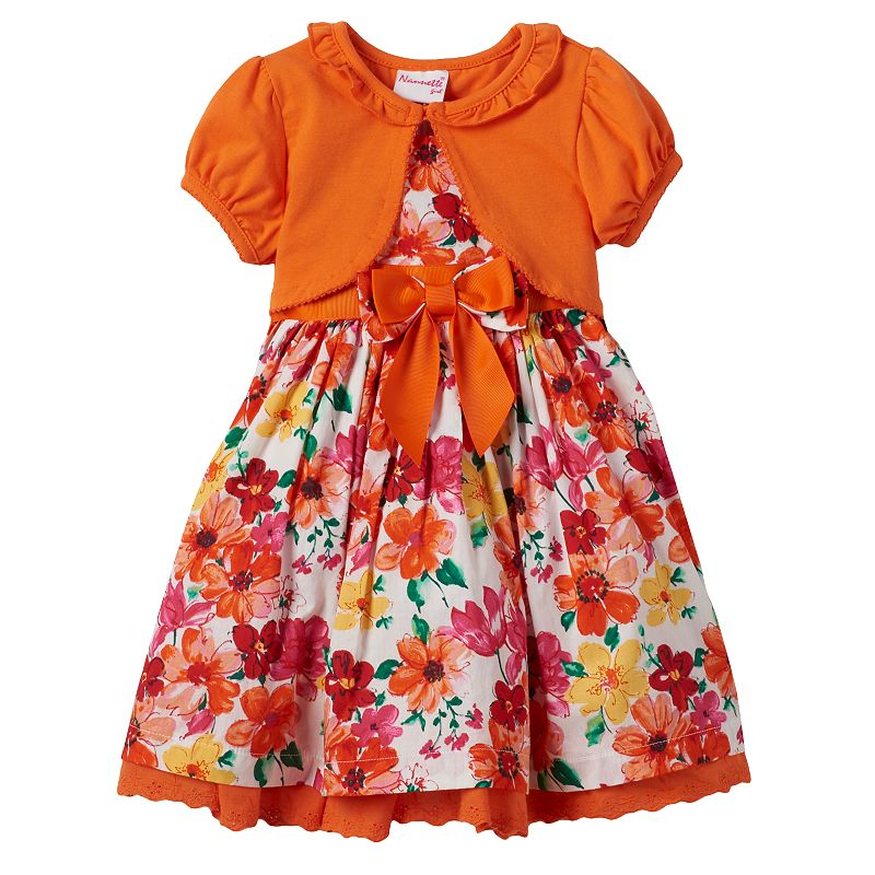 Toddler Girl Nannette Flower Dress & Shrug Set