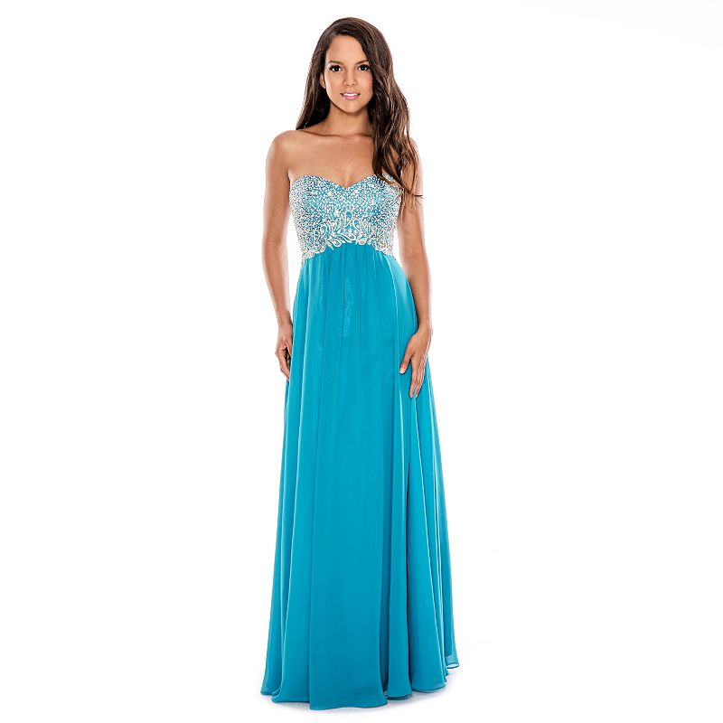 Women's 1 by 8 Beaded Sweetheart Evening Gown