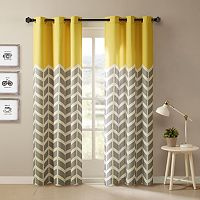 Intelligent Design 2-pack Elle Chevron Curtains