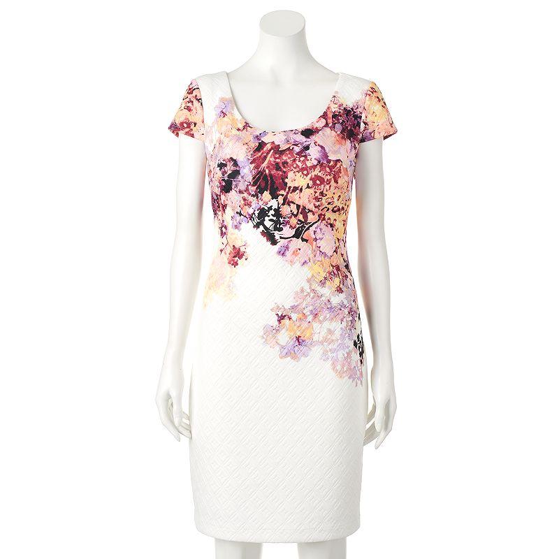 Women's Chaya Textured Floral Sheath Dress