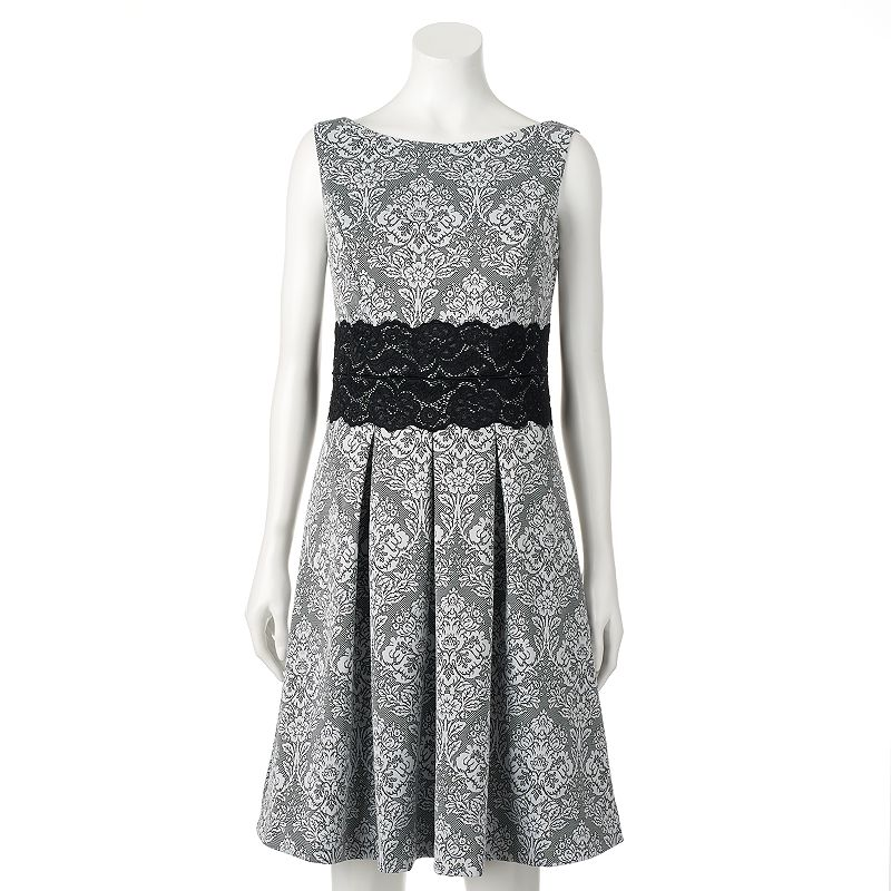 Women's Chaya Scroll Lace Fit & Flare Dress