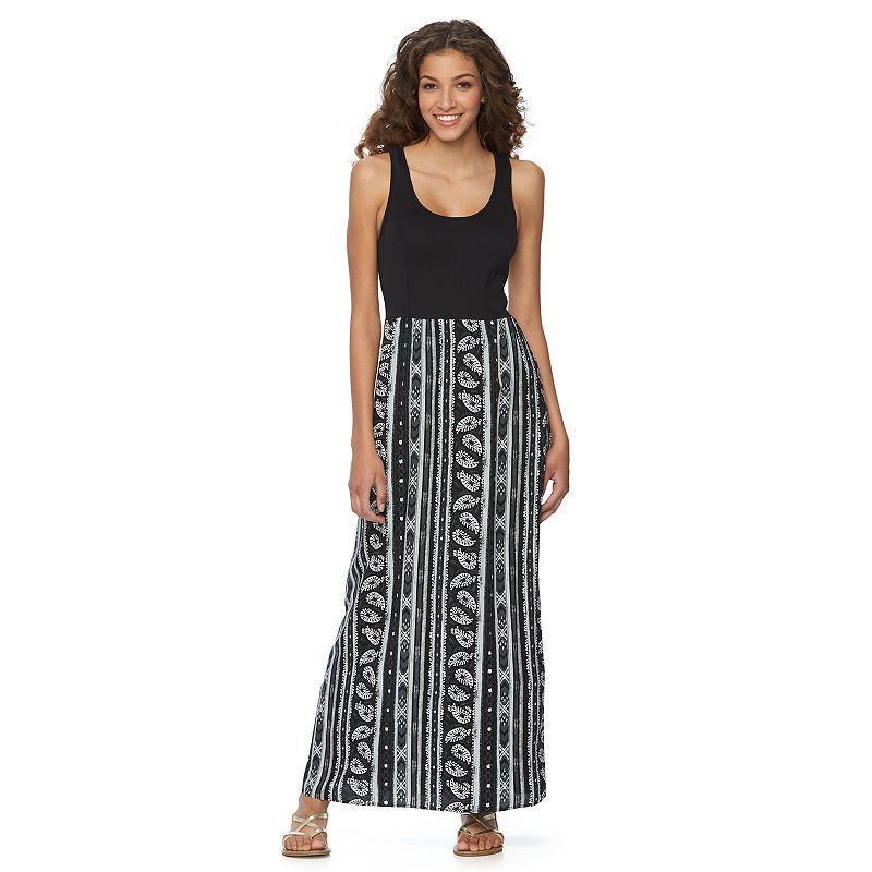Juniors' Mudd® Woven Knit Maxi Dress