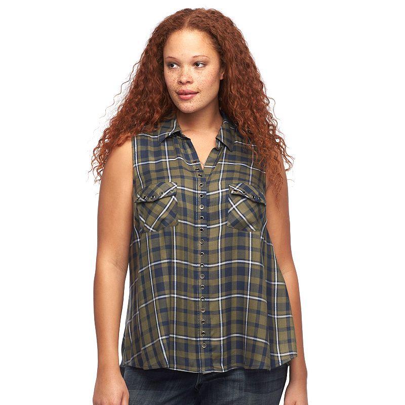 Plus Size Rock & Republic® Plaid Shirt
