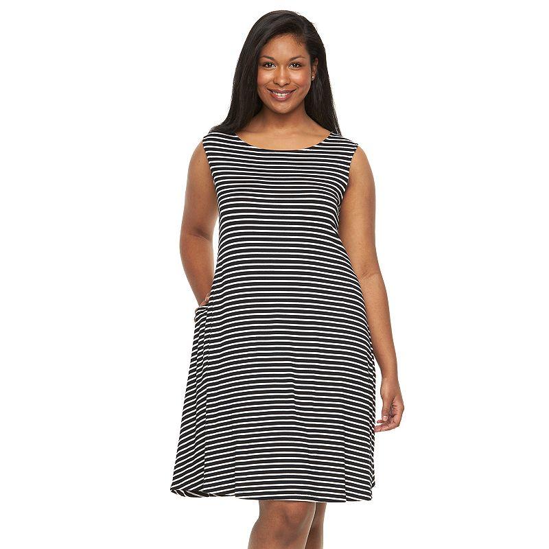 Plus Size Apt. 9® Printed A-Line Tank Dress