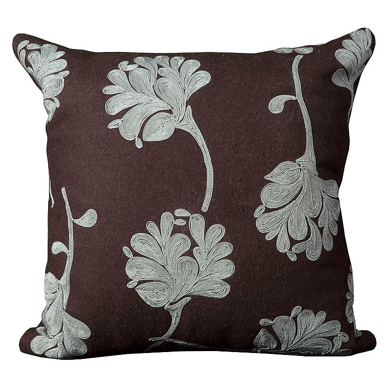 Mina Victory Floral Metallic Throw Pillow