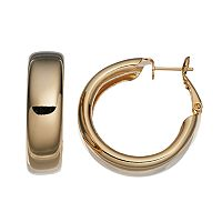 14k Gold-Plated Hoop Earrings
