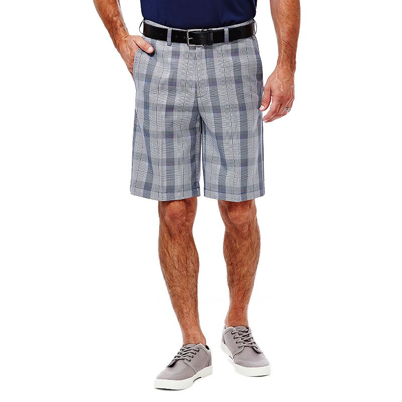Men's Haggar Glen Plaid Flat-Front Shorts