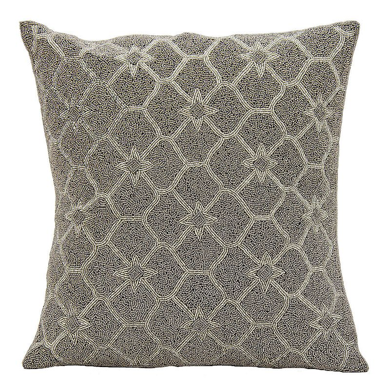 Kohls Black Decorative Pillow : Mina Victory Crown Beaded Throw Pillow DealTrend