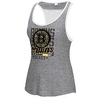 Women's CCM Boston Bruins Split Stack Lace Back Tank Top