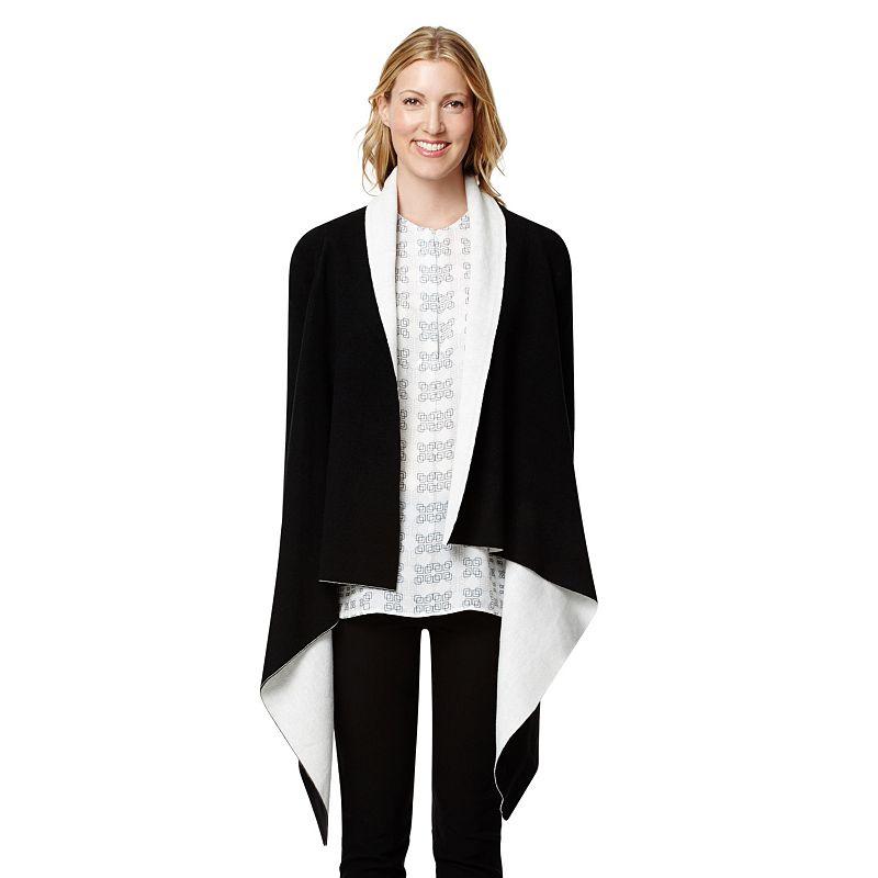 Women's Harve Benard Draped Open-Front Cardigan