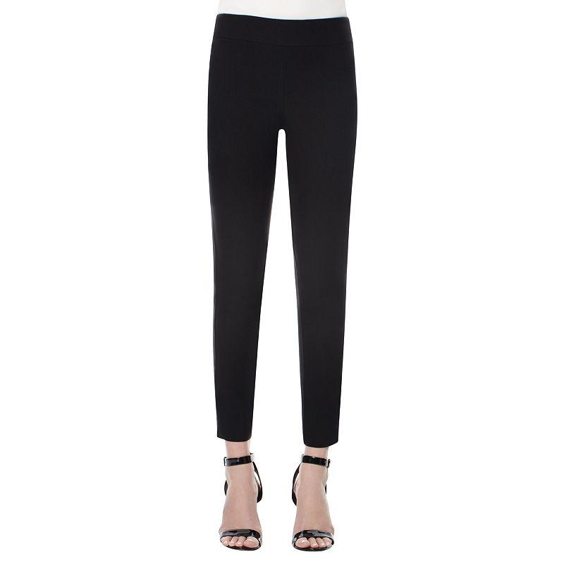 Women's Harve Benard Classic Pull-On Straight-Leg Ankle Pants
