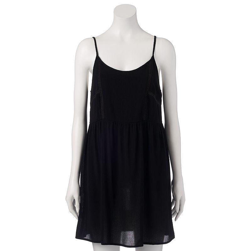 Juniors' Mudd® Crochet-Inset Dress