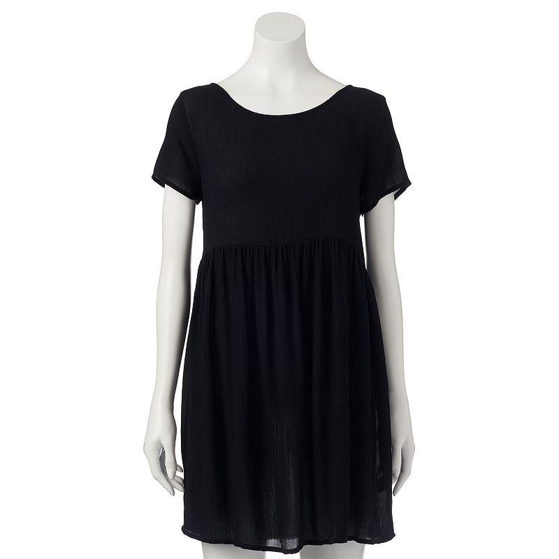 Juniors' Mudd® Lace-Back Babydoll Dress