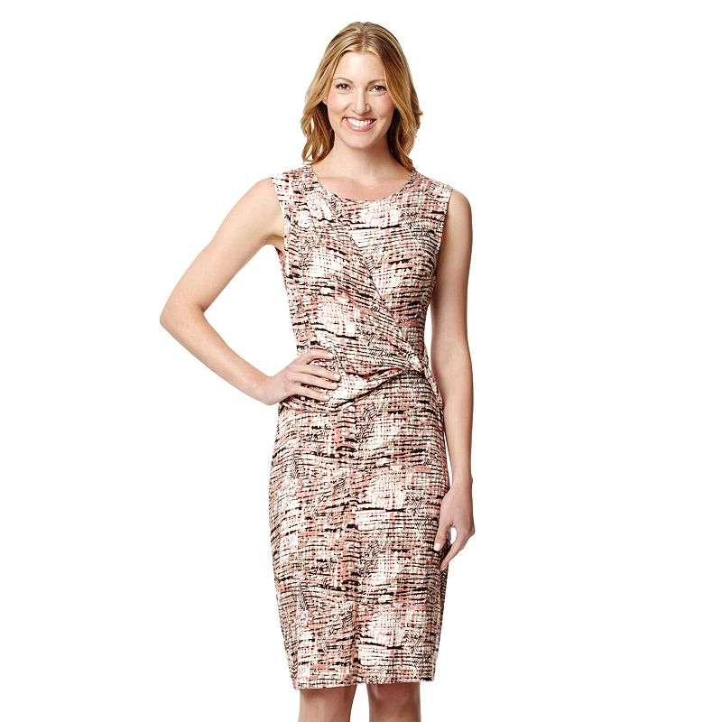 Women's Harve Benard Abstract Draped Dress