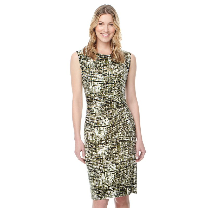 Women's Harve Benard Abstract Draped Dress